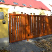 Posuvné brány - hliníkové